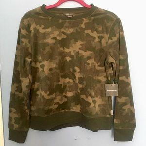 Eddie Bauer Fleece Camo Sweatshirt